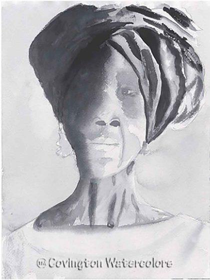 """African Queen 9"""" x 12"""""""