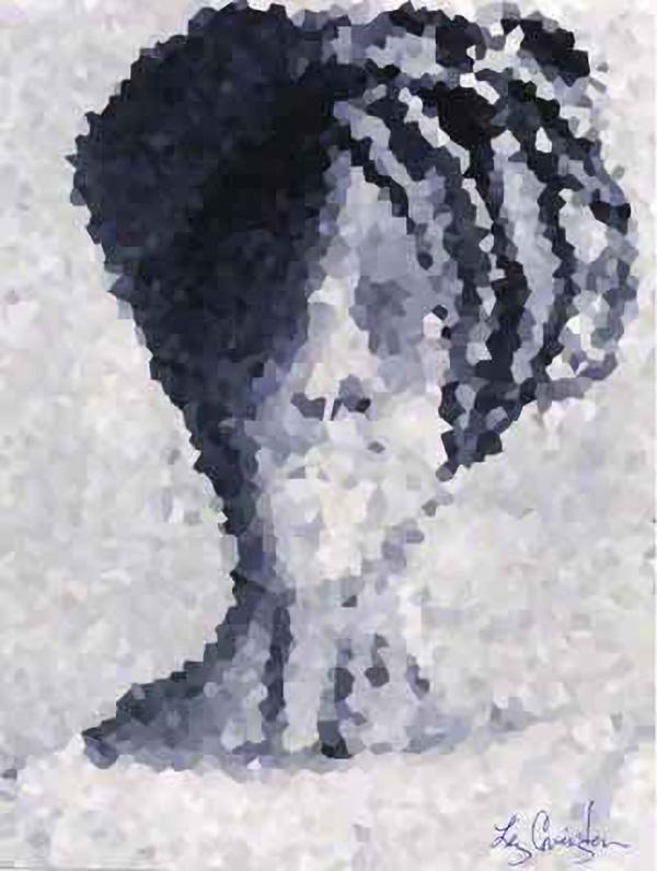 African Queen, pixelated