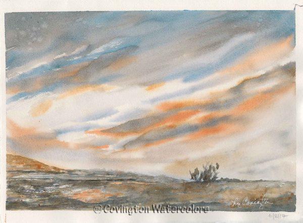 """Desert Sunset 11"""" x 15"""""""