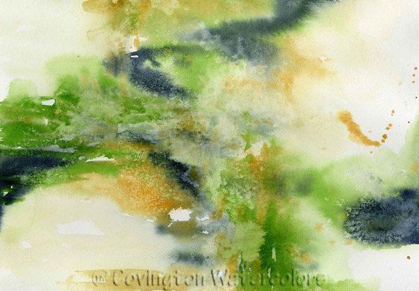 "Green Abstract-10""x14""-Original"