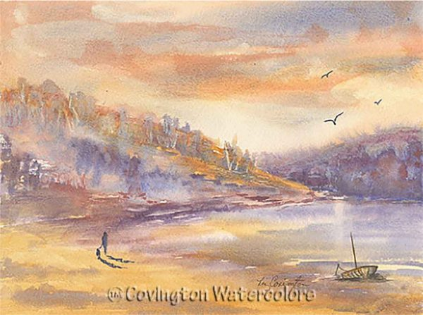 """Late Afternoon Stroll 9 1/2"""" x 12 1/2"""""""