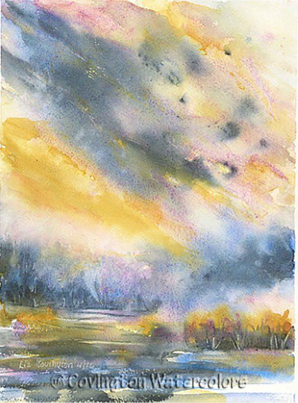 """Stormy Sky 11"""" x 15"""""""