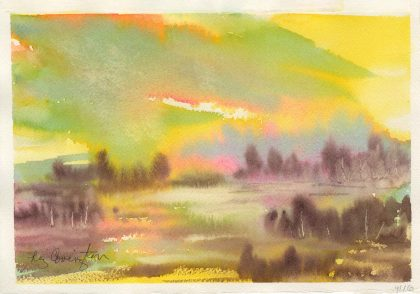 "Sunset at the Lake 7 1/2"" x 11"""