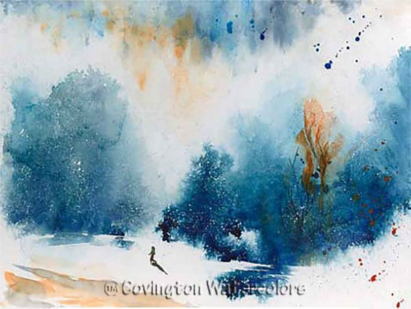 "Winter Stroll 9"" x 12"""