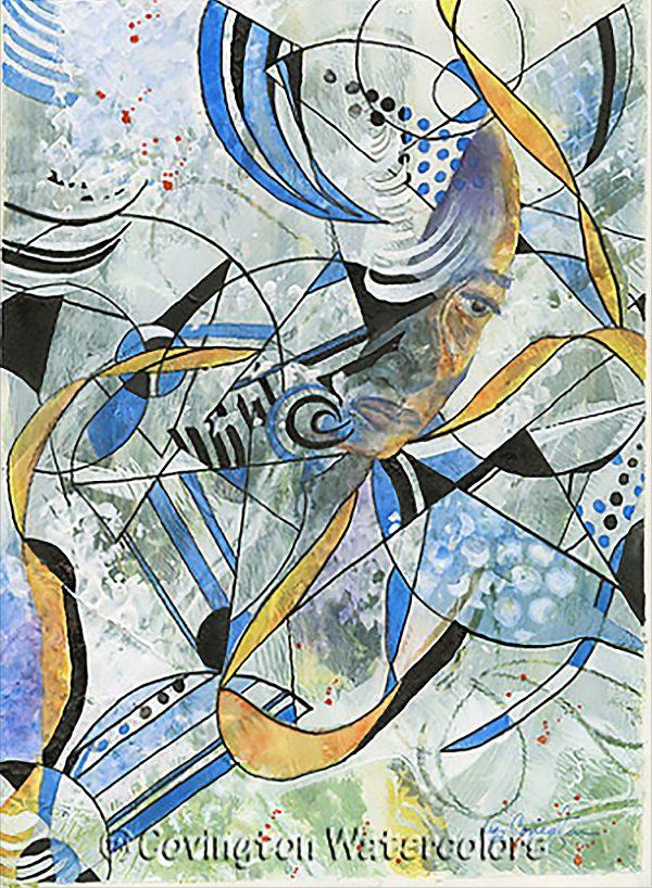 "Abstract Man-11""x14"" Print"