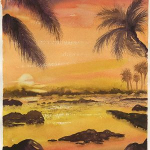"Balmy Sunset 11"" x 15"""