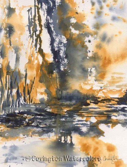 "Impressionistic Landscape 10"" x 13"""