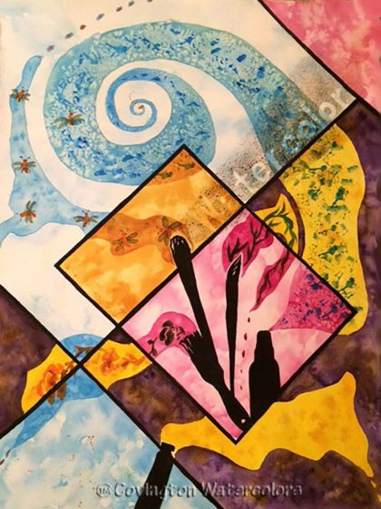 Watercolor Abstract- Greeting Card